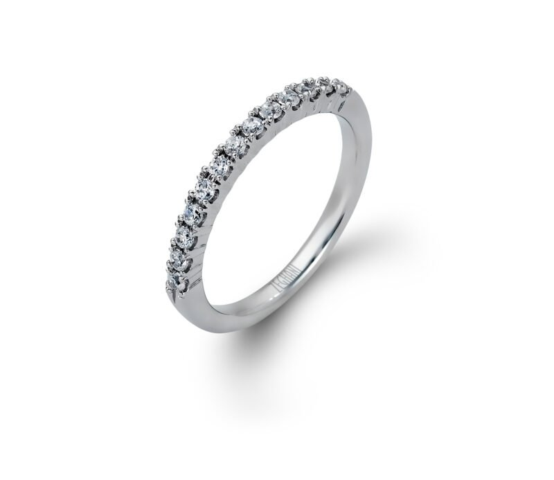 Zeghani 14K White Gold Engagement Ring with Marquise-Cut Diamonds