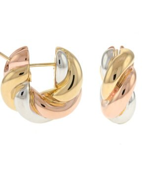 14k Tri-Color Earrings