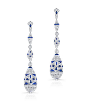 Mesmerizing 18k White Gold Drop Earrings