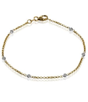 Classic 14k White and Yellow Gold Bracelet