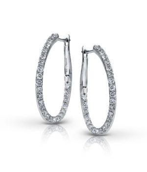 Irreplaceable 14k White Gold Hoops