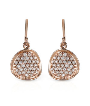 Eyes of Madagascar 14k Rose Gold Earrings