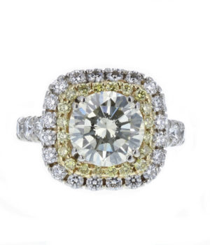 Cushion shape diamond halo