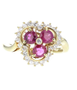 Balerina ruby ring