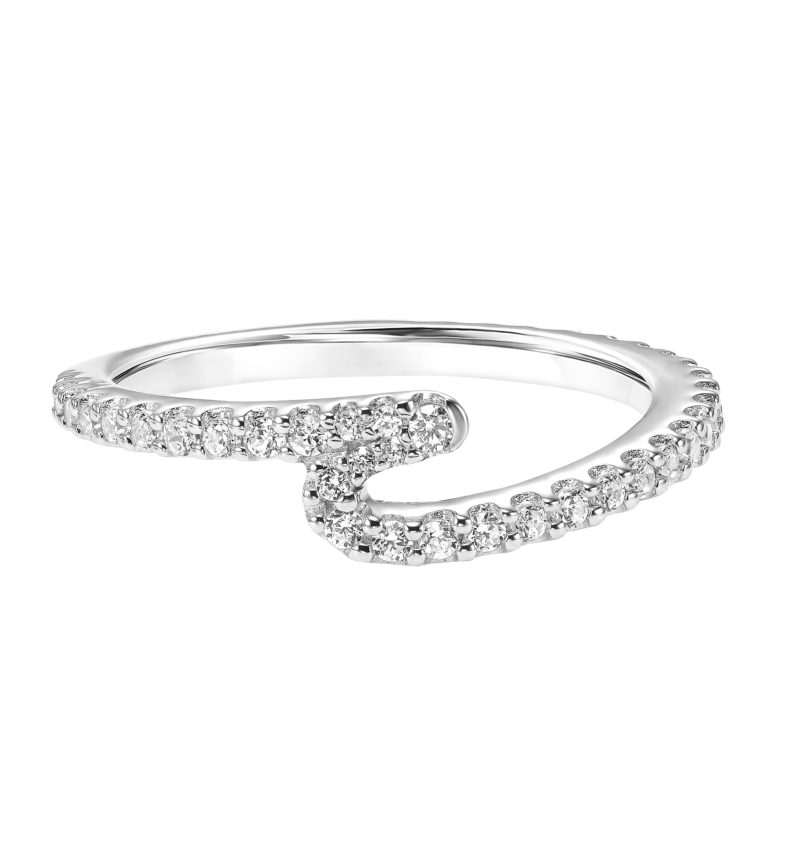Diamond Wedding Band to Match Diamond Engagement Ring with Wrap